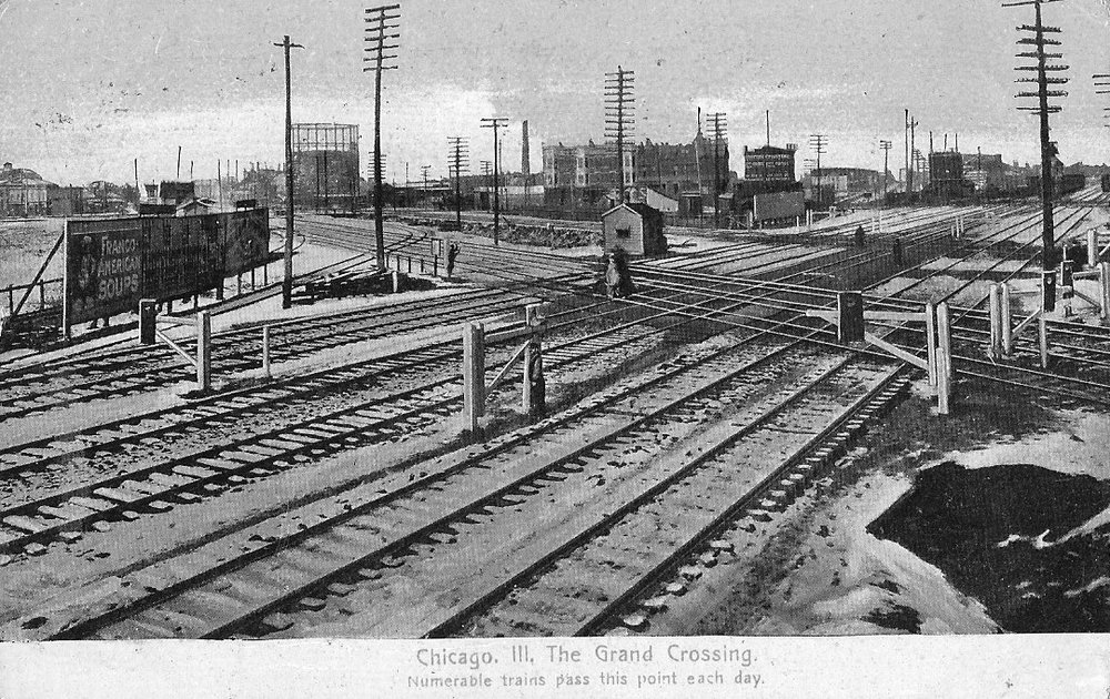 Photo Caption: Grand Crossing in Chicago around 1900, site of a major train accident in 1853.