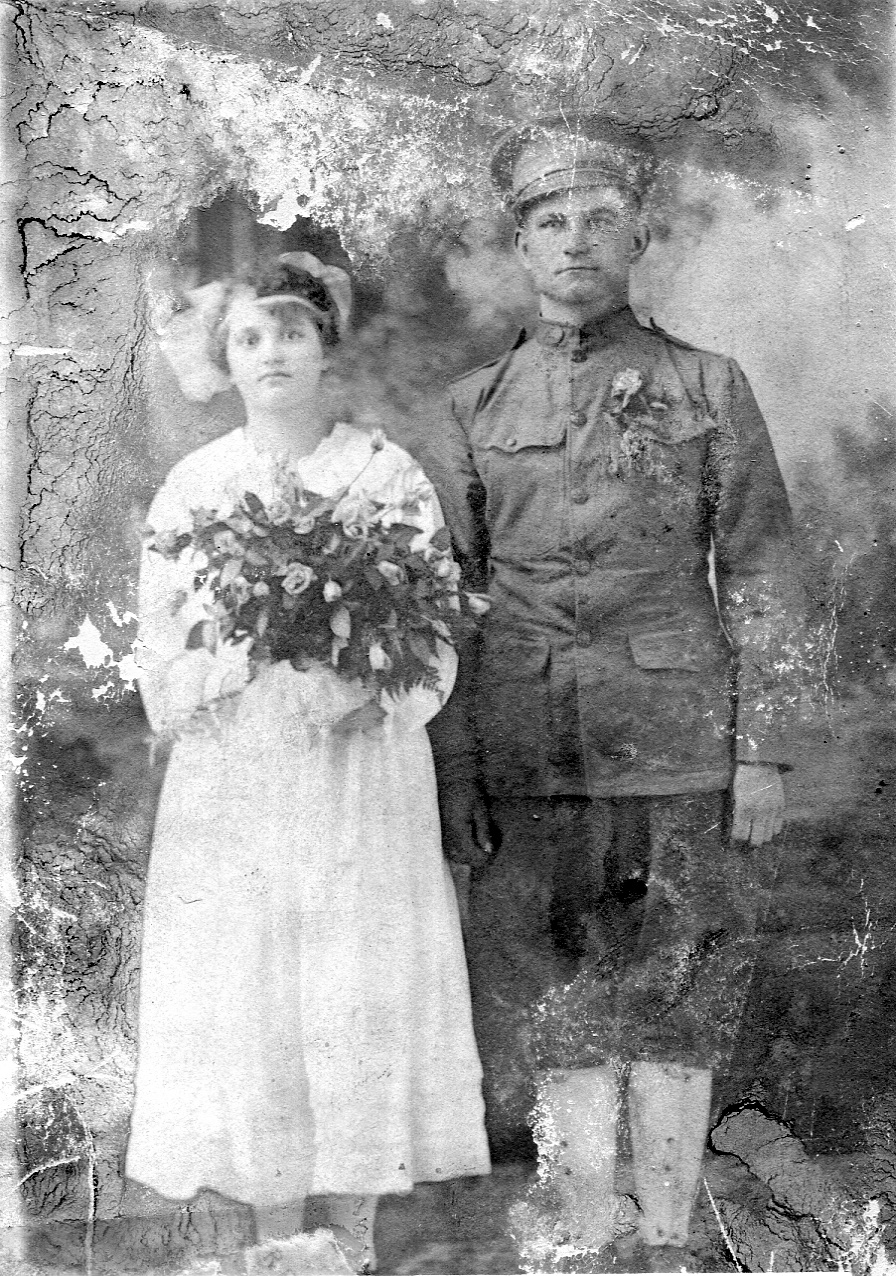 John Santa was dressed in his Army uniform when he and Sophie Gresko served as attendants at a Whiting wedding in 1918.