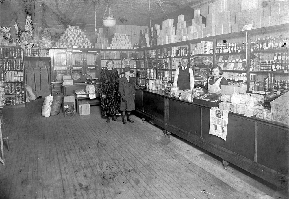 John and Mary Kresac operated their grocery store on Schrage Avenue. This photo is believed to be from around 1912.
