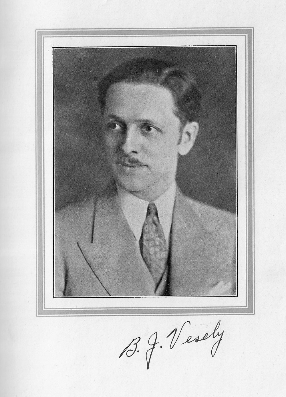 Bernard J. Vesely, from the 1932 Reflector, the yearbook of Whiting High School.
