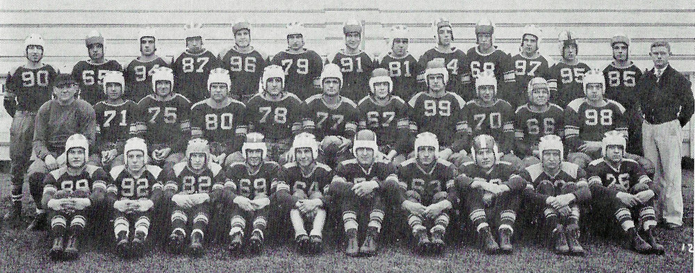 The 1934 Whiting Oilers went 10-1, losing only the state title game against South Bend Central. The players on that team were: Front Row, left to right: Roy Heyden, P. Demas, , Irvin Hamlin, Vincent Oliver, S. Justak, Albert Wajvoda, George Kovacich, J. Grdina, Paul Michna, Joseph Waclawik. Middle Row: M. Kinek, F. Progar, B. Dostatni, Joe Bercik, Peter Kovachic, A. Puhek, Heppy Michna. Back Row: S. Gurevitz, S. Hatzel, P. Demas, J. Kubacki, C. Vater, E. Michna, Norris Wonnacott, A. Wisch, C. Grant, George Kinnane, S. Nagy, J. Dedinsky, R. Greenburg.