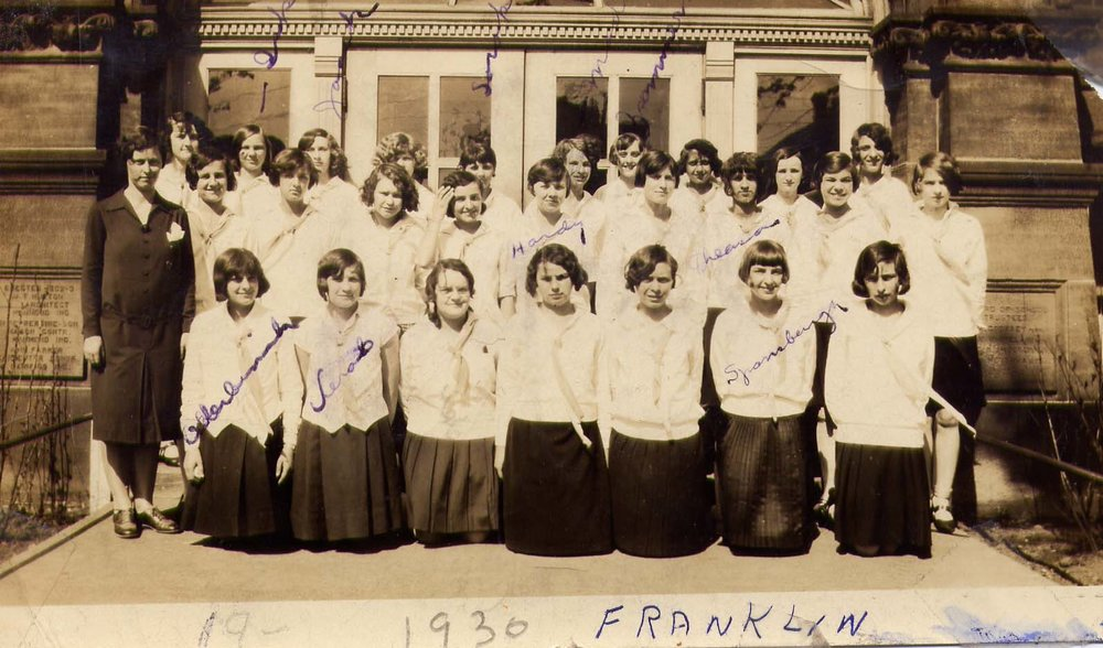 Franklin School students from 1930.