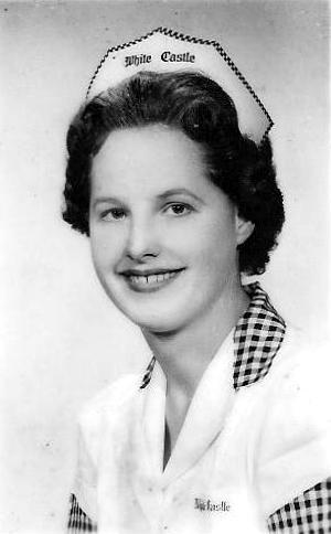 Phyllis Yanas in her White Castle uniform.