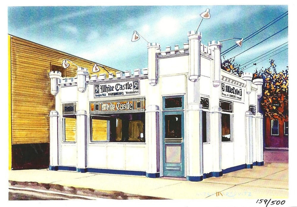 The Whiting-Robertsdale Historical Society is  selling a limited numbe r of these special postcards which show Whiting's original White Castle.