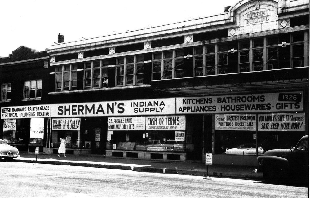 Sherman's was located in the present location of Beggar's Pizza on 119th Street in downtown Whiting.