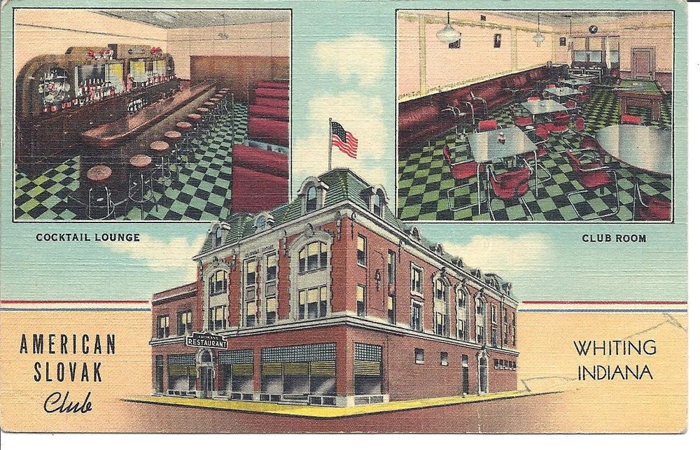 "The American Slovak Club has been located at 1324 119th Street for decades. But it looks different than it looked in this 1930s era post card. Today, the top floor is gone. The building was also known as the Slovak Dom, ""dom"" being a Slovak word for ""home."" The upstairs is where Slovak immigrants and their families gathered for wedding celebrations and for special events. But in the 1960s, the upstairs hall was shut down. By 1982, damage caused by leaks led to the roof collapsing at the exact moment a meeting was being held on the ground floor to discuss bids for removing the top floor."