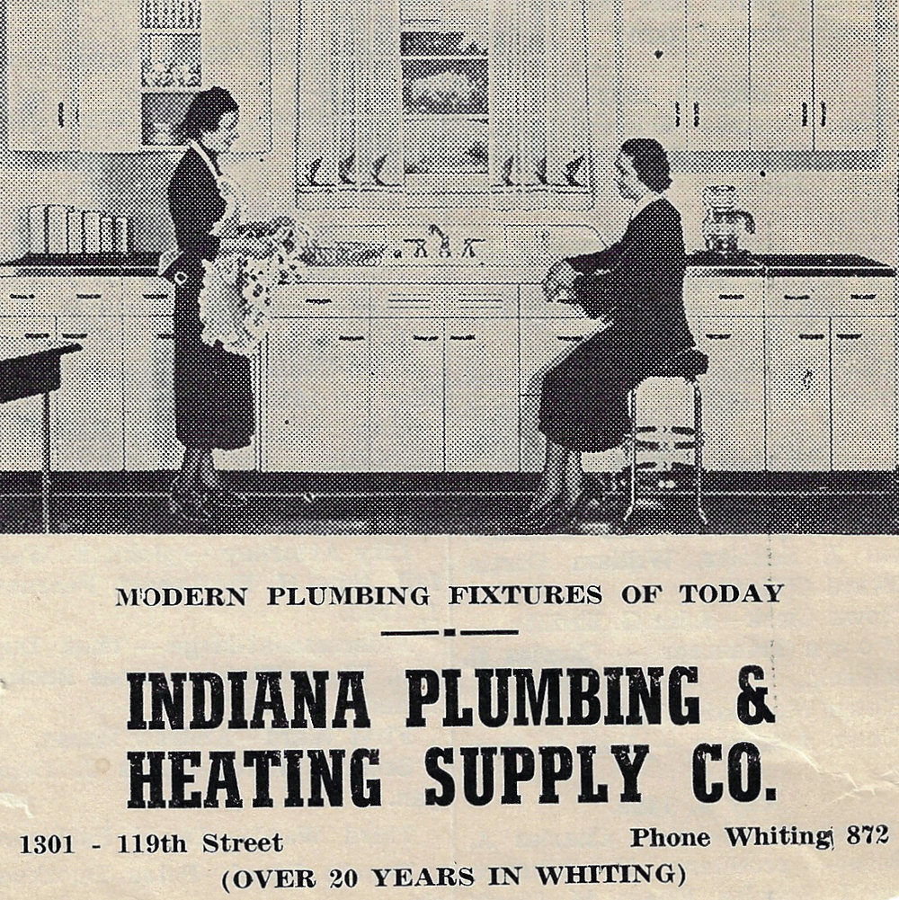 A 1939 ad for Whiting Plumbing & Heating, 1510 119th Street. Before moving to 119th Street, they were located on New York Avenue.
