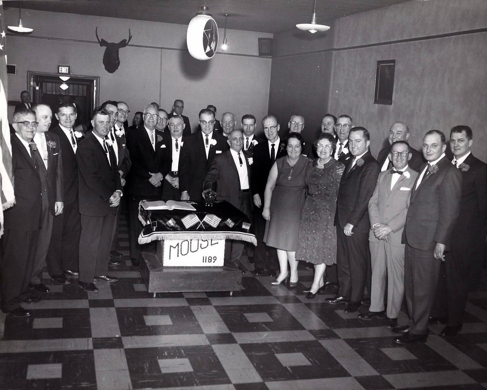 Members of the Moose Club gather for an event in their lodge at 1548 119th Street in 1970.