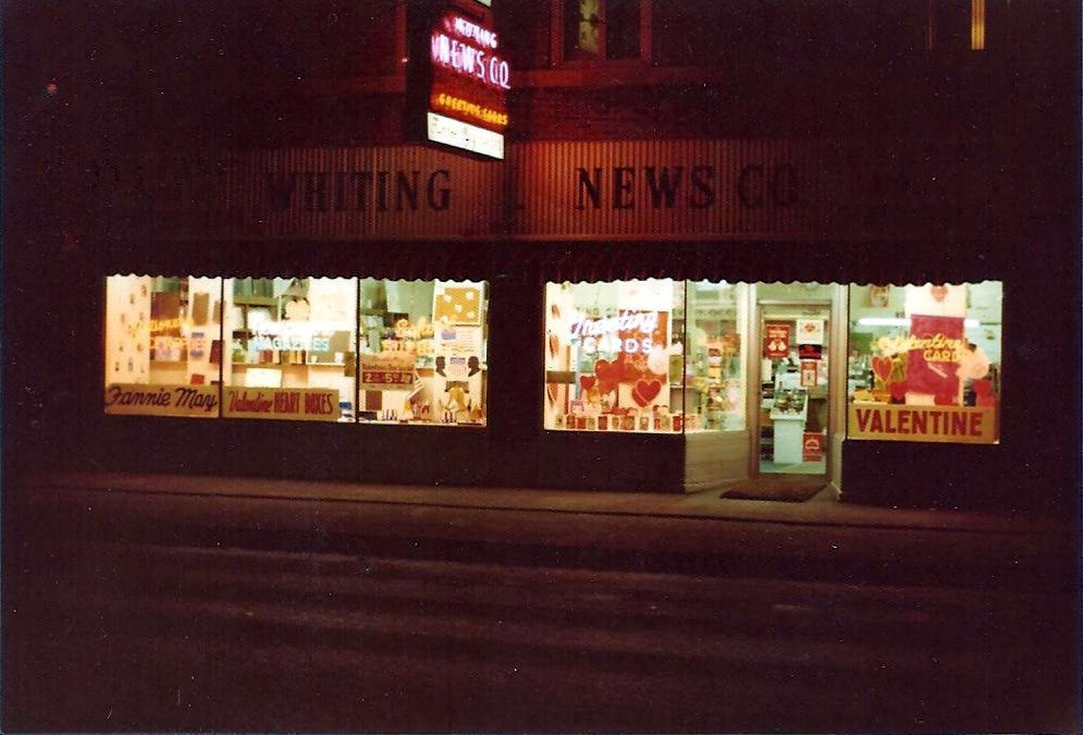 The Whiting News Company, 1417 119th Street, on a night in 1976.