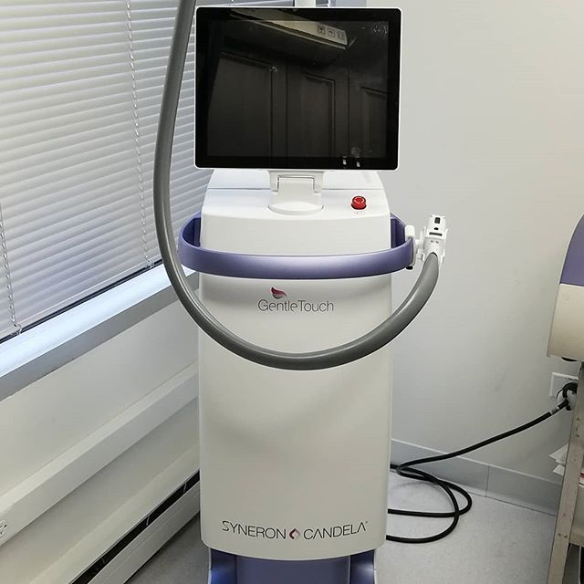 Meet our Lasers: Part 10 Our GentleTouch laser by @syneroncandela is a unique combination device that can be used for laser hair removal, vascular conditions and skin tightening.  It contains a long-pulsed Alexandrite laser combined with a radiofrequency device. This combination allows us to use the powerful red laser safely on all skin types. . The physicians at PLDI completed the initial studies with this device and have published their results in dermatology journals. . . . #laserdermatology #chicagoderm #chicagodermatology #chicago #laser #dermatology #laserderm #laserhairremoval #laserhair #vein #radiofrequency