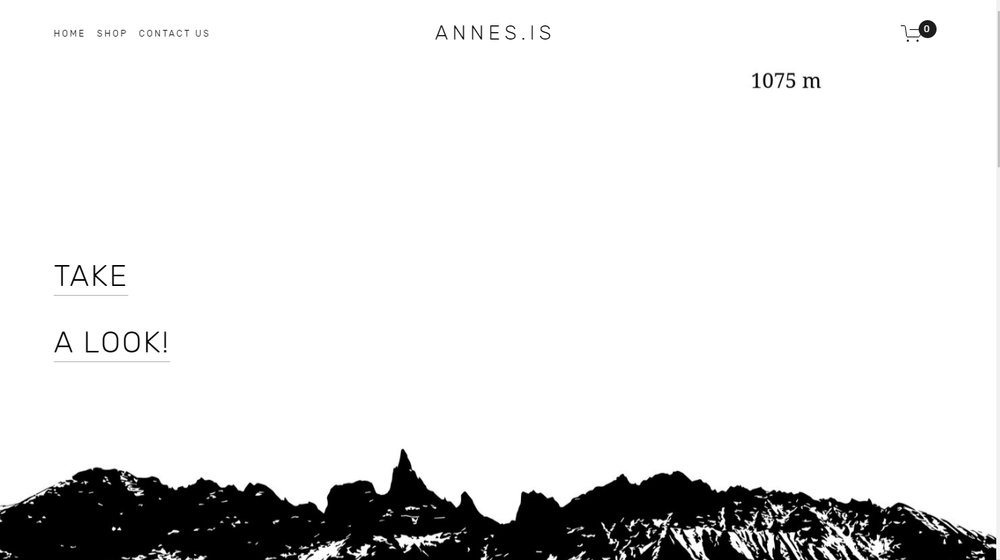 Annes.is - Homepage design and online shop for annes.is