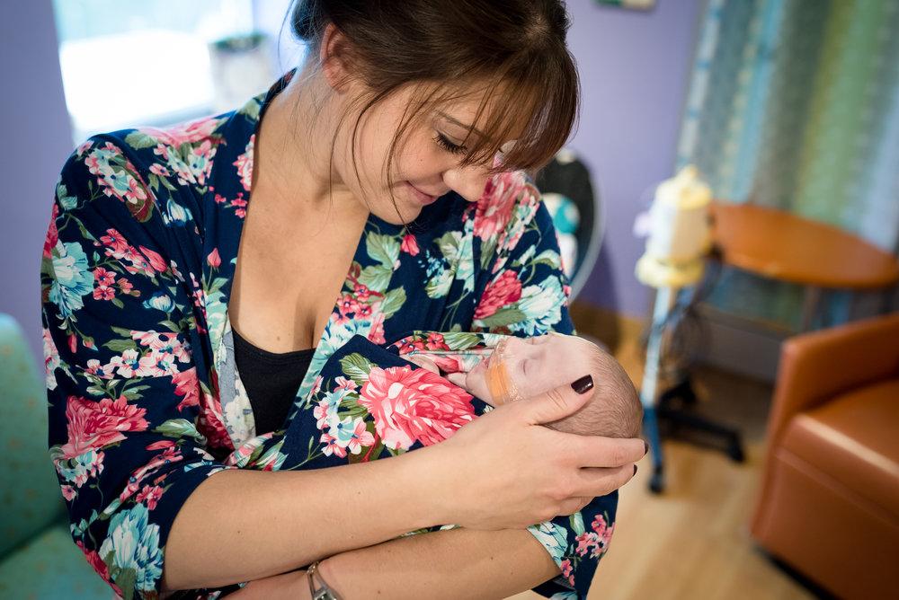 NICU Children's Hospital Pittsburgh newborn photography session