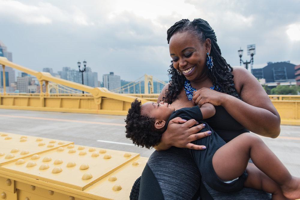 black breastfeeding mother in pittsburgh
