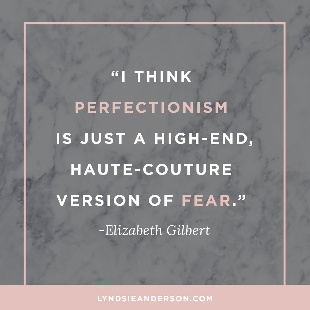 Big Magic Quote By Elizabeth Gilbert on Perfectionism