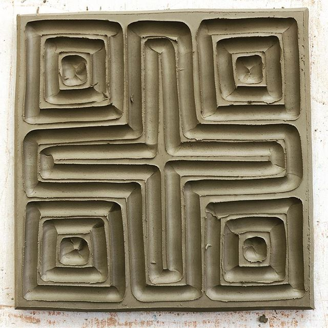 Wall piece. Work in progress. . #courtneymartinpottery #pottery #woodfiredceramics #moderncraft #contemporaryclay #handmade #makersgonnamake #geometricpattern #starclay #potteryispolitical #828isgreat  #ceramik #womenwhowoodfire