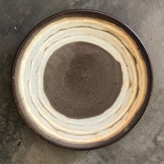 Plate. I'm bringing this guy to @sxpottery this weekend- hope to see you in Louisville! Check out their website for a full schedule of events. There's a cocktail tasting Friday, and an Empty Bowls event, and of course the pottery sale! #courtneymartinpottery #womenwhowoodfire #plate #pottery #potteryispolitical #circle #woodkiln