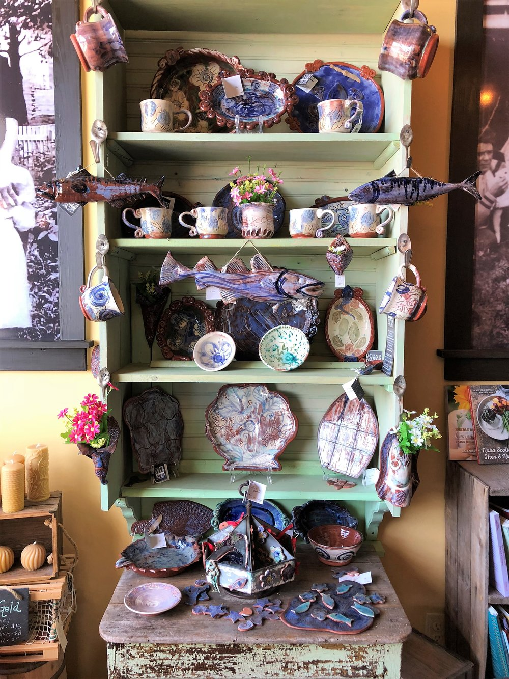 V Pottery - is a small pottery studio on Isle Madame owned by artist Victoria Bonin MacKenzie.