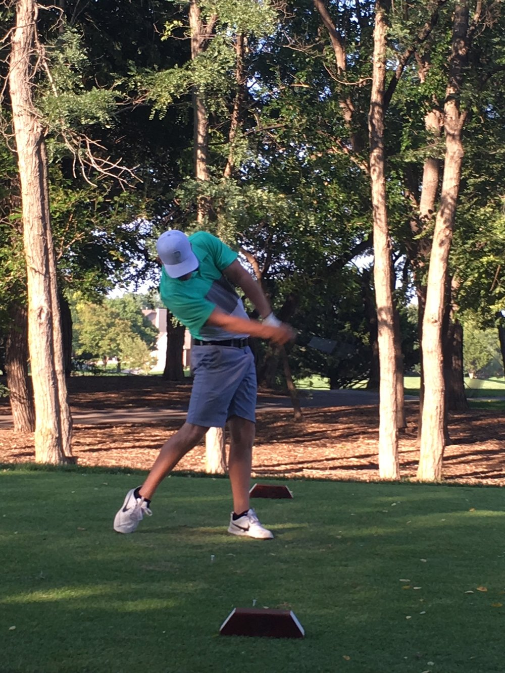 Connor Carman's winning drive in the Long Drive Contest
