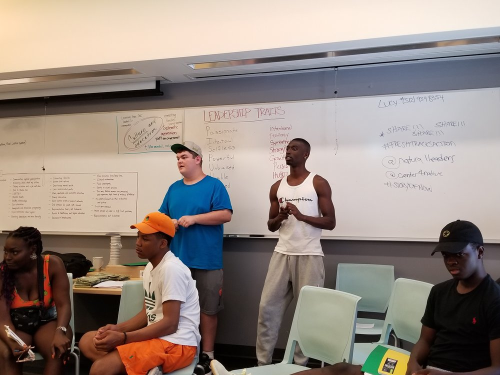 Fresh Tracks Trainers Tyler Campbell and Cameron Williamson-Martin team up to lead a workshop on Leadership IQ and developing personal leadership styles.