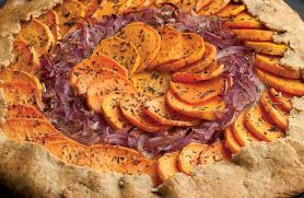 Sweet Potato, Red Onion and Fontina Tart -