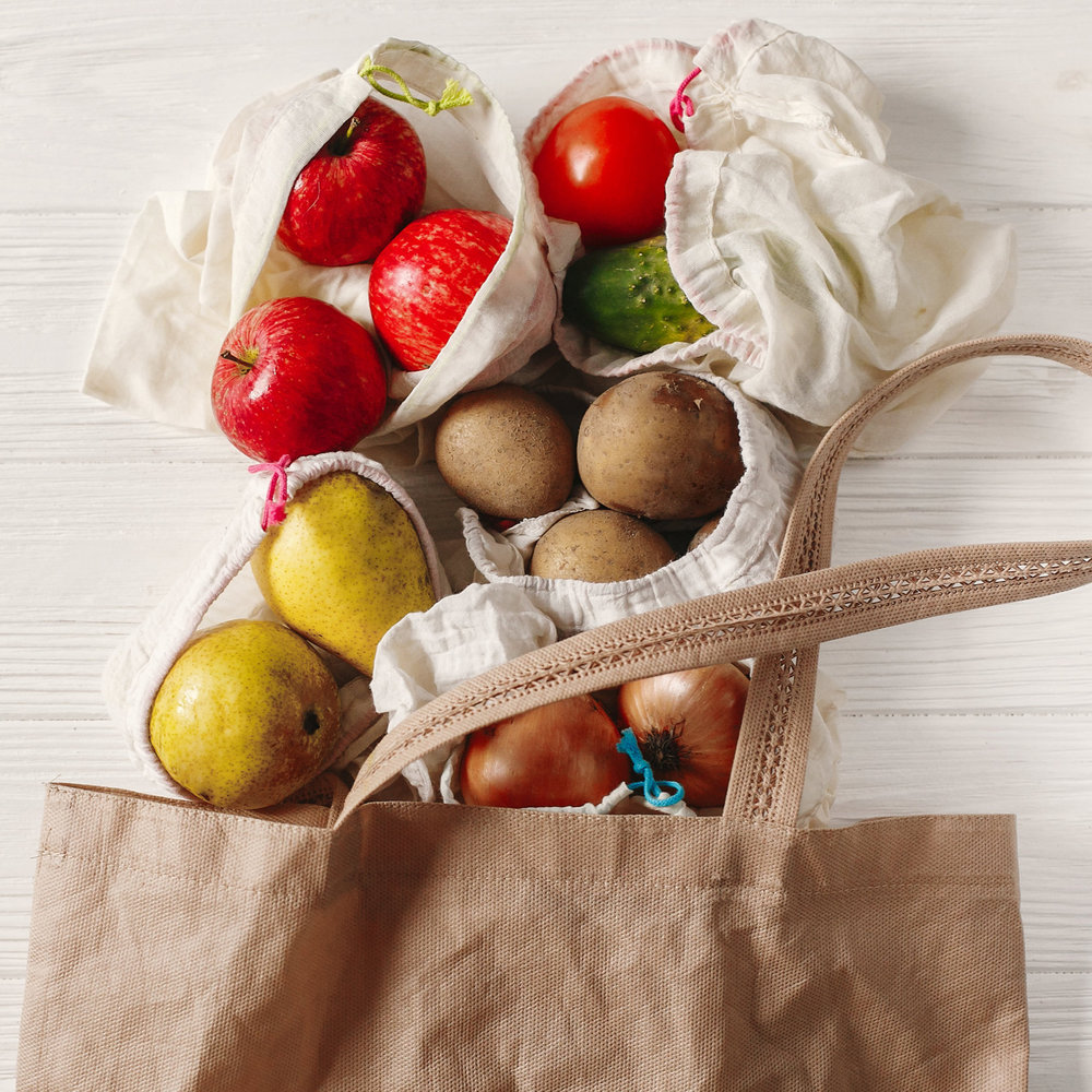 Find a variety of reusable produce bags at the Co-op.