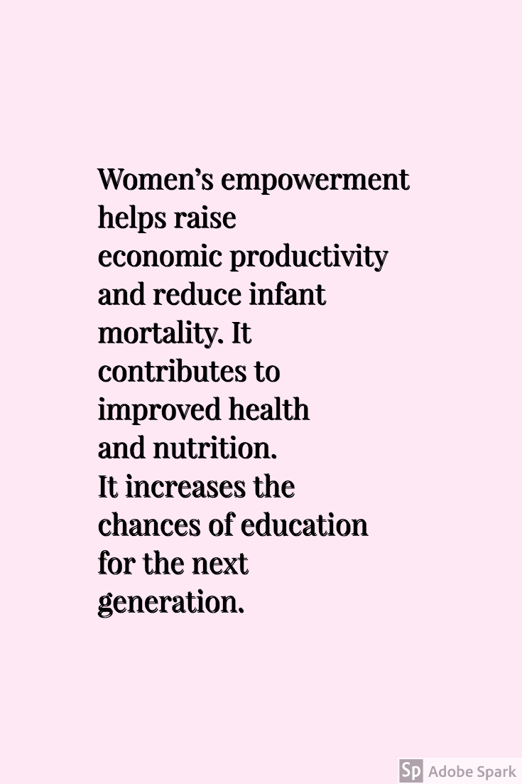 pink quote on women and economics