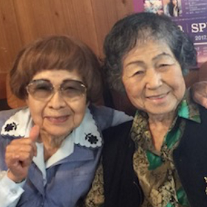 Janice Suetomi and her best friend and neighbor, Fumiko, while growing up in Taira, Okinawa. They are the same age at 89 in 2019. Janice Suetomi is one of the few remaining Himeyuri Nurses today!