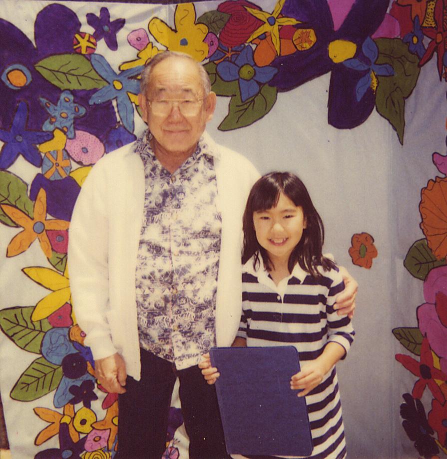 Milton and grand daughter Allyson Yoshinaga.