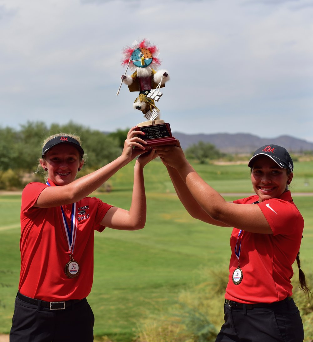 Izzy Pellot* - Lake Mary High School (FL) / Freshman (R)*Scorecard Playoff Winner over Karoline Tuttle (L)