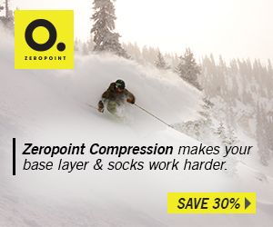 Save 30% on Zeropoint Compression clothing.