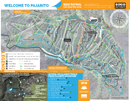 2018 Bike Park and Trails Map