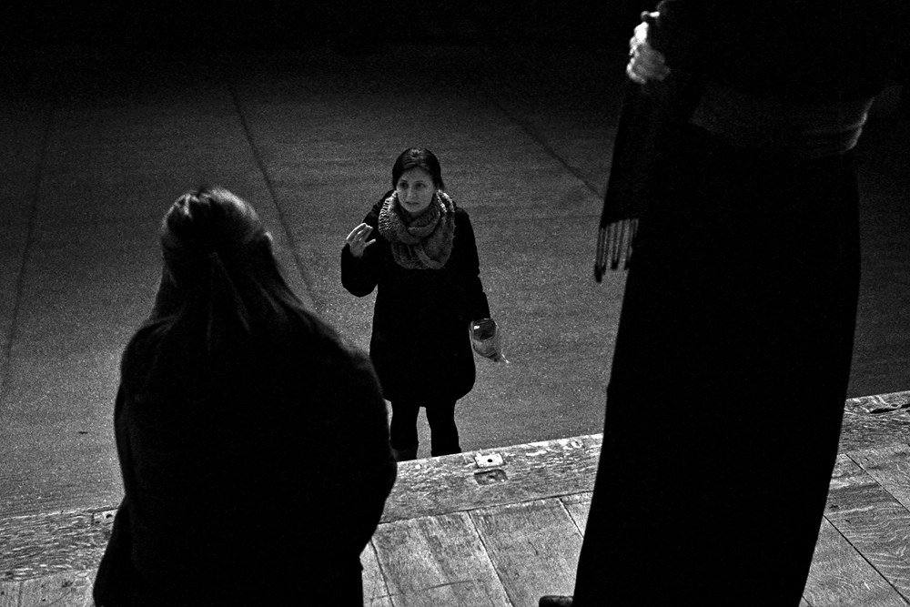 In rehearsal: Shakespeare's Globe Theatre, London