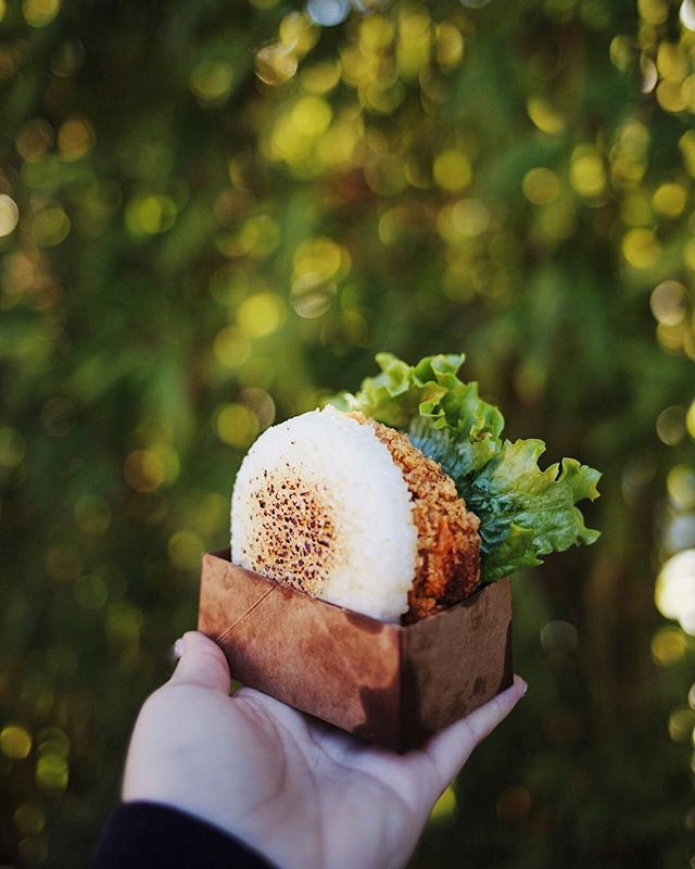 YOU ASKED AND WE HEARD YOU!!! We are pleased to welcome a #Vegetarian friendly burger to all our patrons. A Japanese Curry Croquette fried and nestled between our signature rice buns, crisp lettuce, a slice tomato, and drizzled in our signature house teriyaki sauce. -  TAG A VEGETARIAN FRIEND TO SHARE THE LOVE