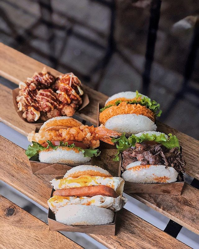 """""""Get them saying """"""""Wow"""""""" when you show up to your next study date with our signature Party Pack. Dine with us from 11am - 8pm or call us for free delivery. -  Peep Our Latest #Vegetarian Rice Burger """""""