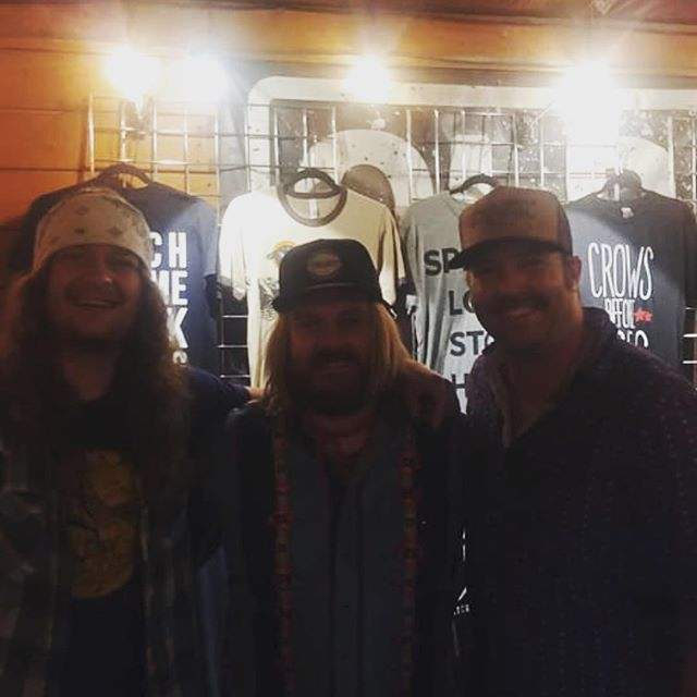 Great night hangin with @bartcrowband. Thanks for letting us share the stage with you.