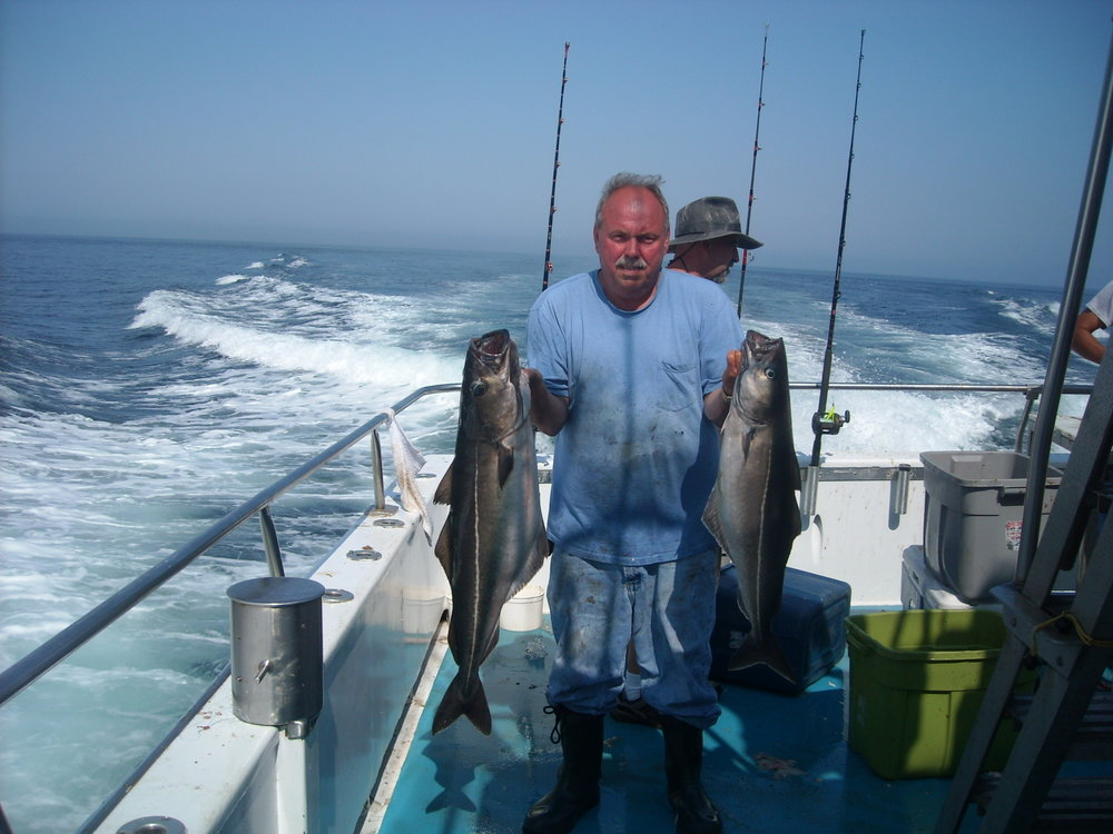 08-04-2014 jigmaster Kenny Won Pool 21Lb Pollock.JPG