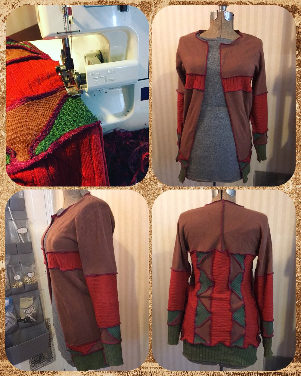 Fall inspired upcycled sweater -