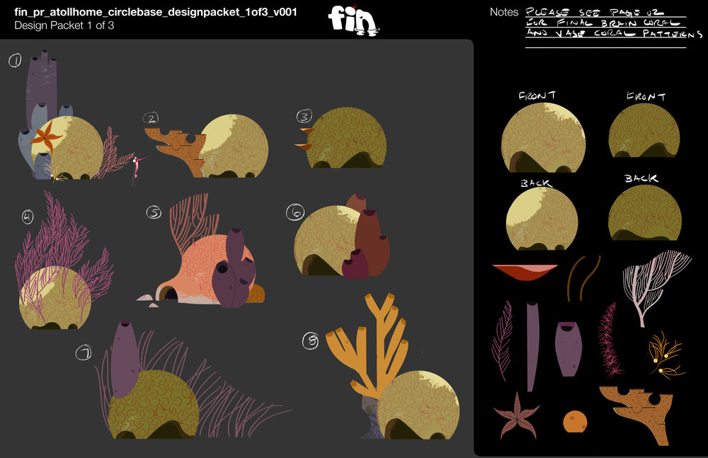 Flat color designs by April Liu, painting, sample textures, and packeting by me.
