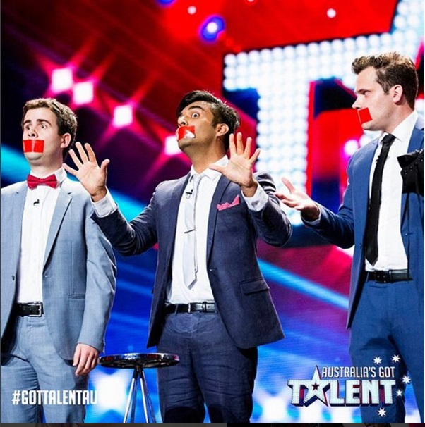 The     Gentlemen of Deceit     on Australia's Got Talent. Pic courtesy of Dr Sharma