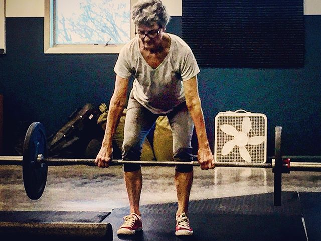 This is my badass, 71 yo mother in law doing her very first deadlift, EVER.  Impressive! I know. What impressed me most today was her courage and openness to actually say YES to something that scared her—the unfamiliar gym in the foreign town with the strange people in the scary class with the unknown approach to exercise. She didn't let fear and anxiety dictate her results. Instead, she chose trust and resilience.... she joined me at the gym and look what she did. I got to watch her shine as she learned new ways to move and use her body and experience her capabilities in ways she didn't know were possible. So very cool!! • Yes, she is strong because she rocked this deadlift, but to me this woman is strong and powerful when she faces fear and anxiety by saying yes to the things that scare her.  I'm inspired. Anxiety and fear don't stand a chance with this powerhouse of a grandma.  #supergram #thisgirlisonfire #thisonelife