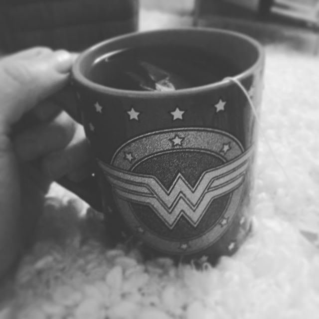My teatime this morning inspired me to invite more wonder and curiosity to my day today.  New lens to the superpower of Wonder Woman.  #lifeisnow #fullplate #thisonelife