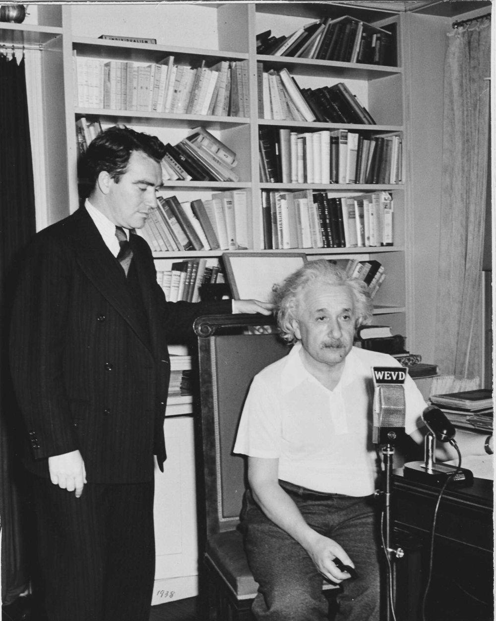 George Field with Einsten.jpg