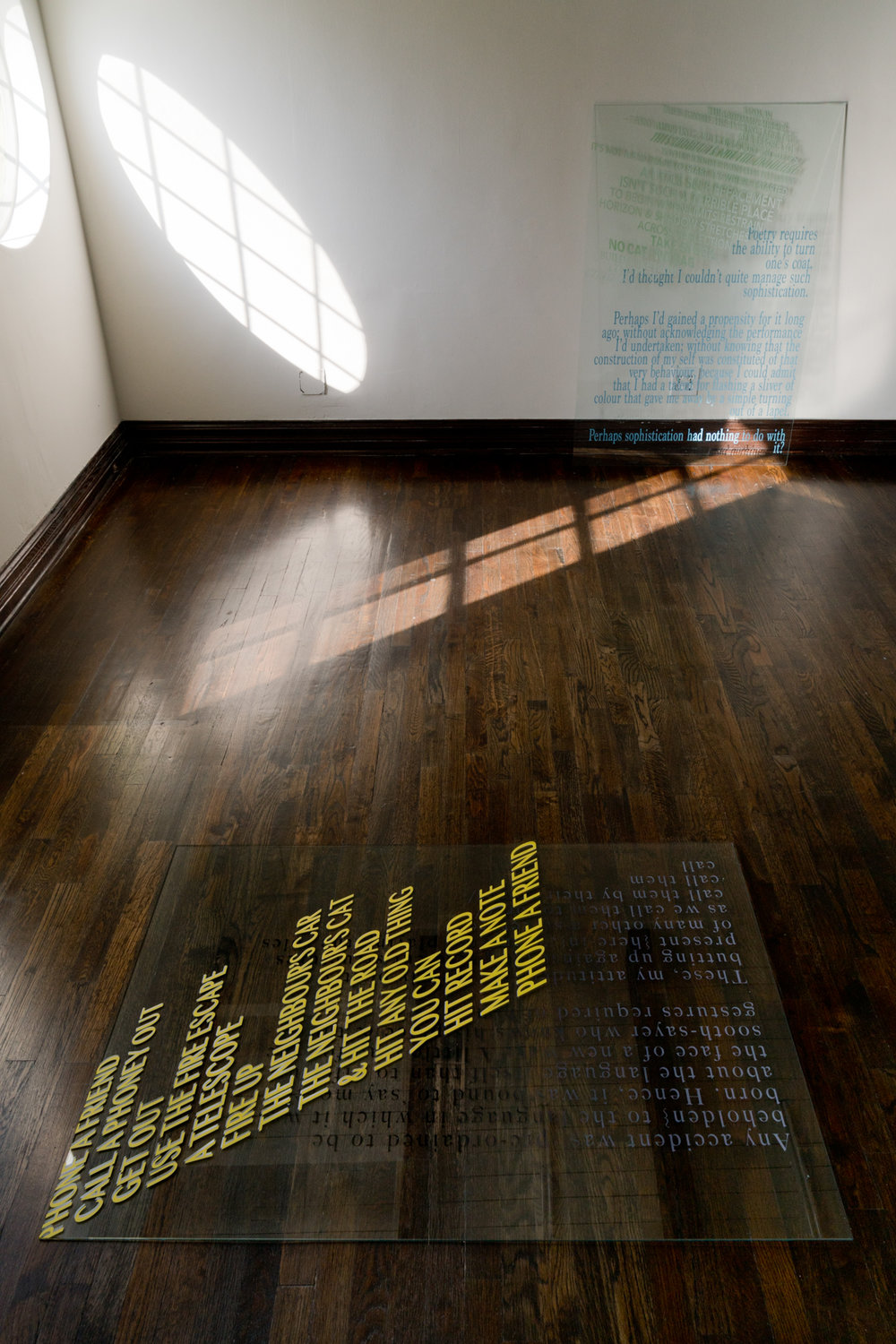 In Case of Emergency - Installation view