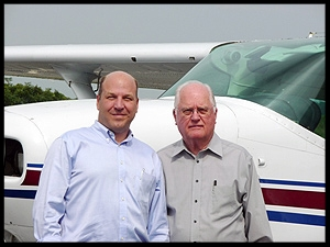Rev. Sean Donnelly (left) and Dr. Davis Goodman (right) in Burlington, NC soon after their first meeting in 2009.