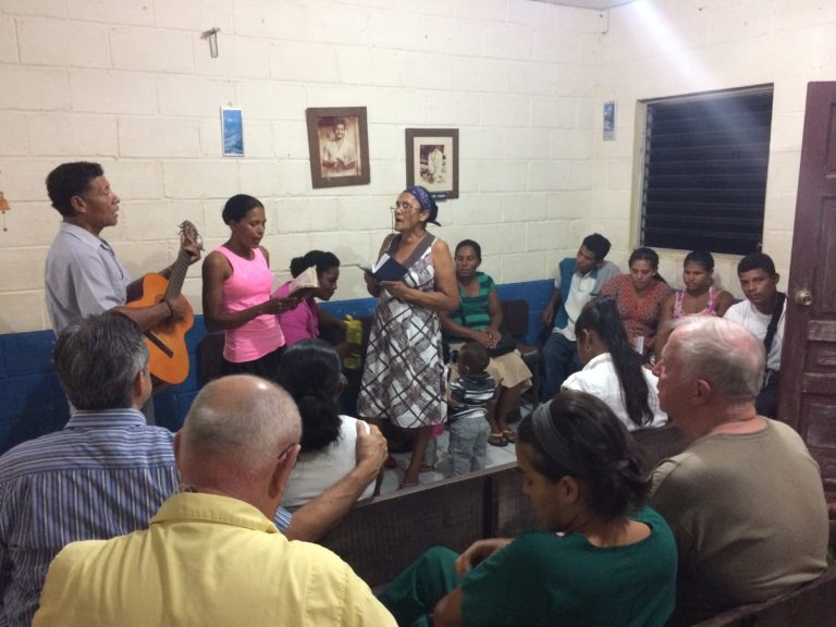 Villagers, visitors, patients, and team members gathered together for an evening worship and preaching service, while surgery was going on at the other end of the hospital.