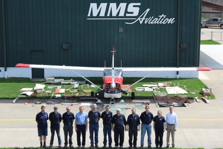 Our friends at MMS Aviation with an example of the many parts that are overhauled or replaced on a typical refurbishment.