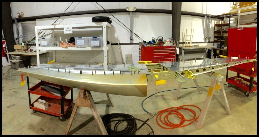 The new horizontal stabilizer being constructed at MMS Aviation, in Coshocton, OH