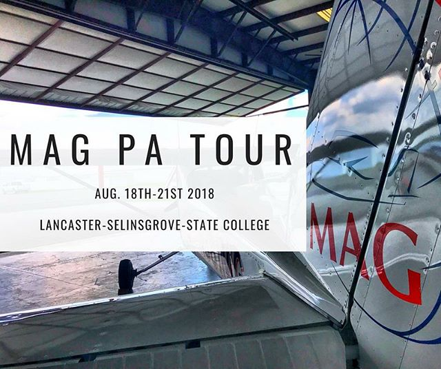 This August MAG is going on tour, through Pennsylvania, the 18th-21st! We invite everyone to come check out our newly refurbished Cessna 206 and to hear about the exciting ministry MAG is doing! If you have any questions feel free to contact Steve at steve.s@flymag.org.  #flyMAG