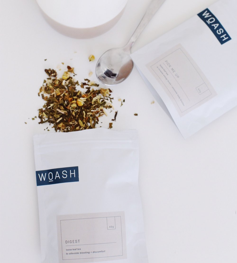 Packaging design for Woash Wellness by Salt Design Co.