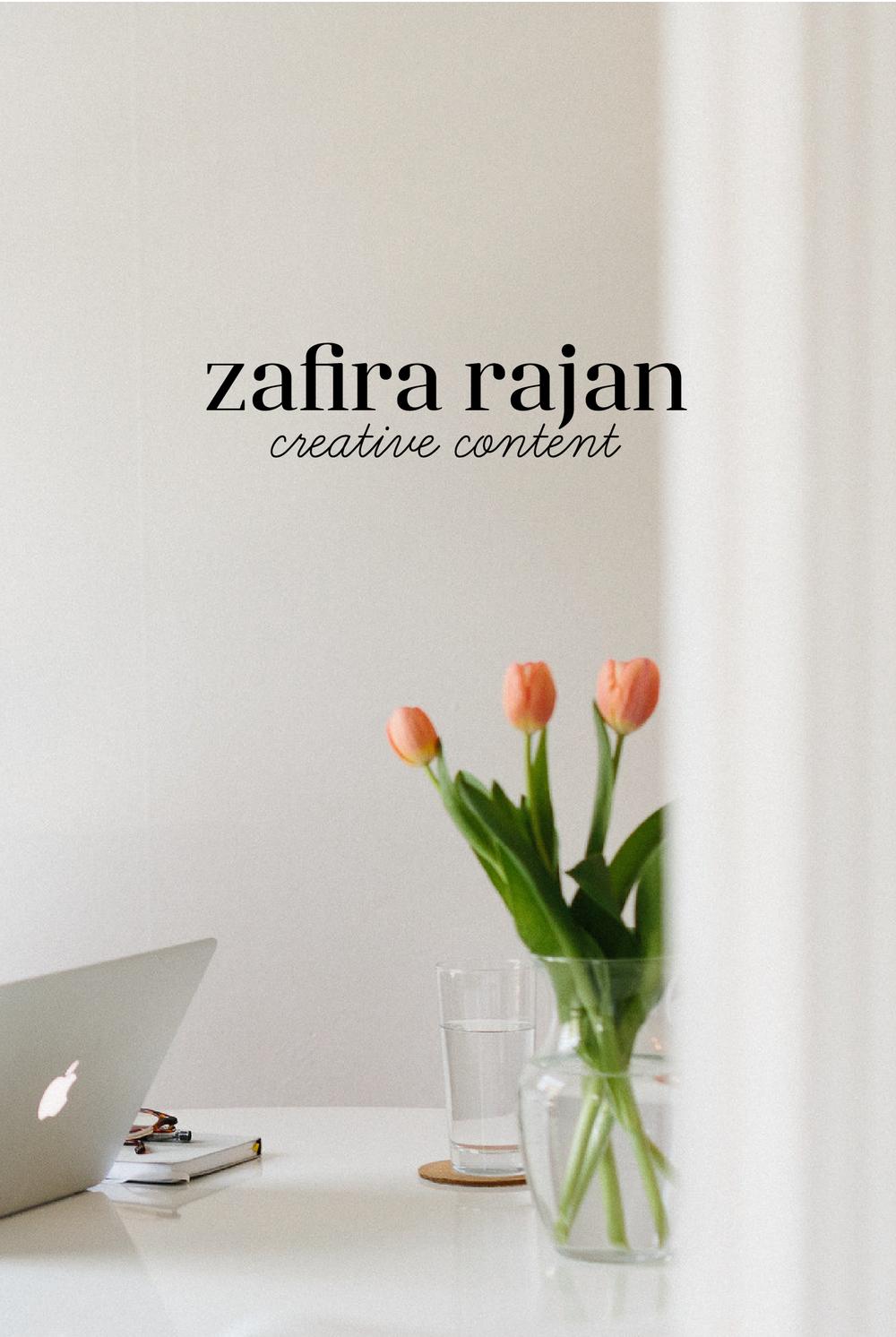Photo of Zafira Rajan's home by Alexa Mazzarello with logo designed by Salt Design Co.